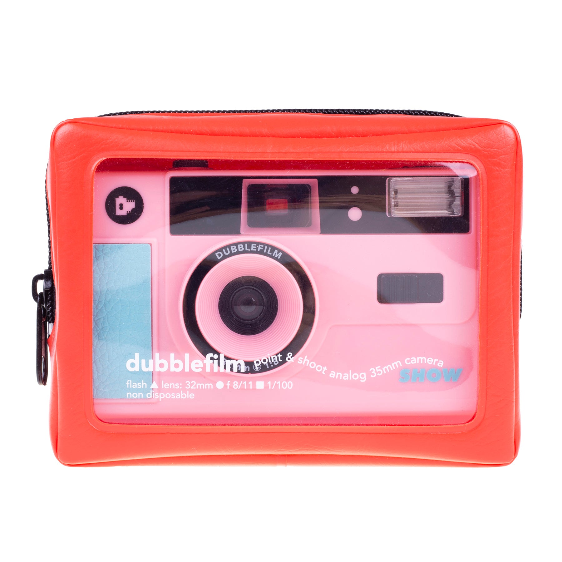 SHOW camera pink - 35mm reusable camera with flash