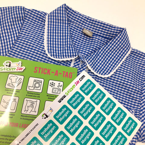 60 Stick On Clothing Labels for Kids School Multipurpose with Pattern