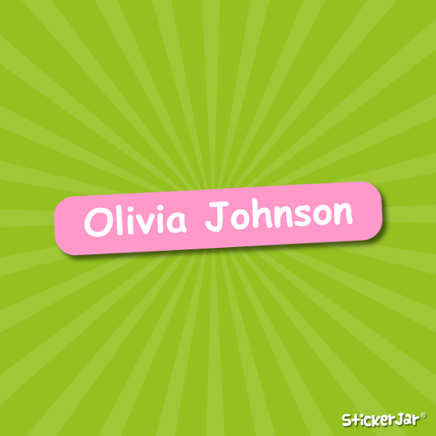 stick on name labels for school rectangular