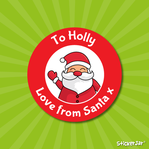 Love from Santa Christmas Stickers