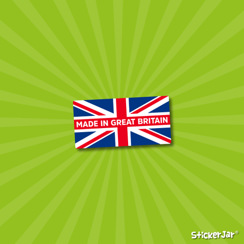 made in britain stickers personalised union jack labels
