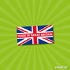 Image of made in britain stickers personalised union jack labels