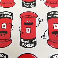 Thank You Postie Stickers