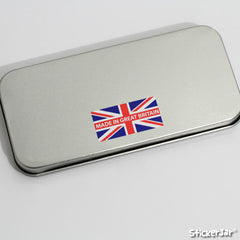 160 Made in Britain Union Jack Labels (customisable) - 25mm x 13mm