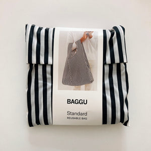 Baggu Reusable standard Black and White Stripe