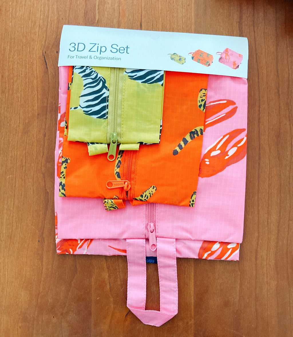 Baggu 3D Zip set Fancy Animal