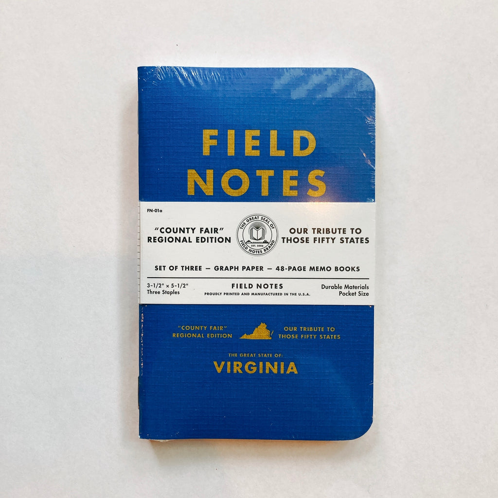 Fieldnote Virginia County Fair State 3-Packs