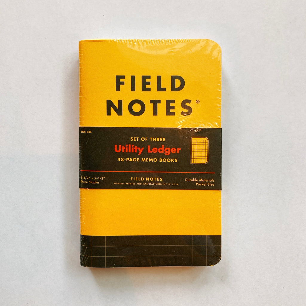 Fieldnote Utility Ledger 3-Packs