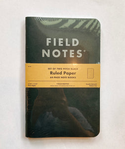 Filednote Pitch Black Ruled Paper  set of 2