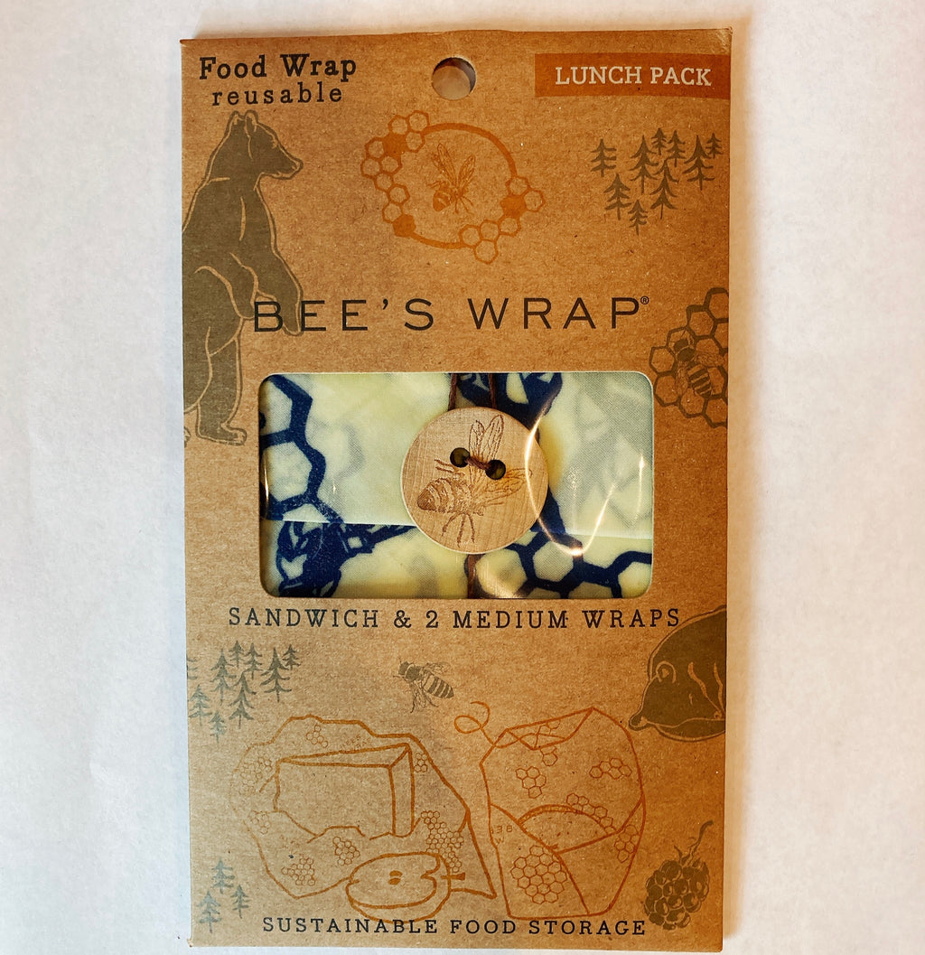 Bees Wrap Bees + Bears Lunch Pack (1Sandwich 2Medium Warp)