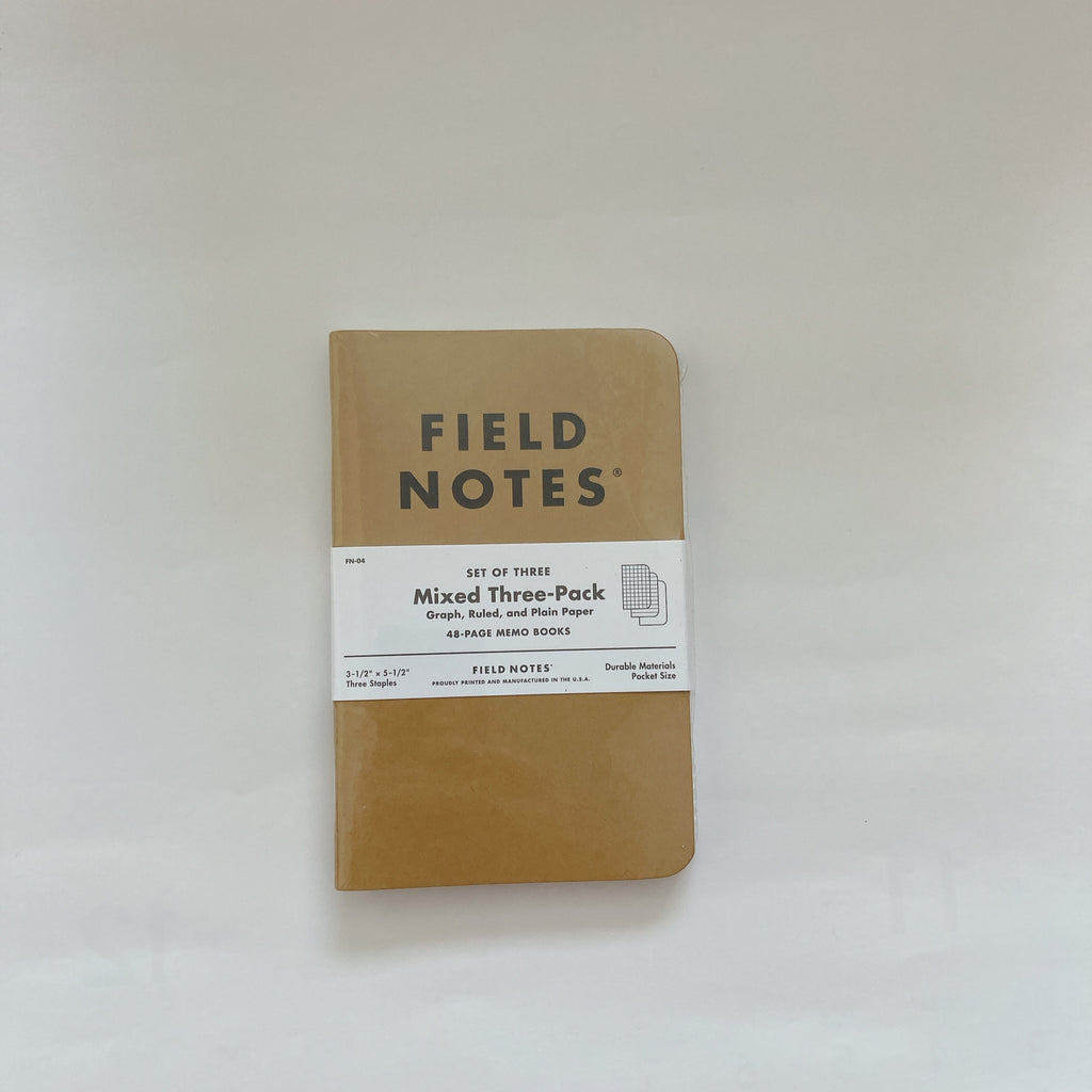 Fieldnote Original Kraft 3-Pack Mixed
