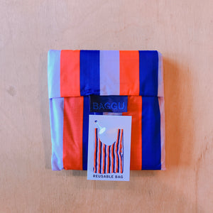 Baggu Reusable bag Red 90's Stripe