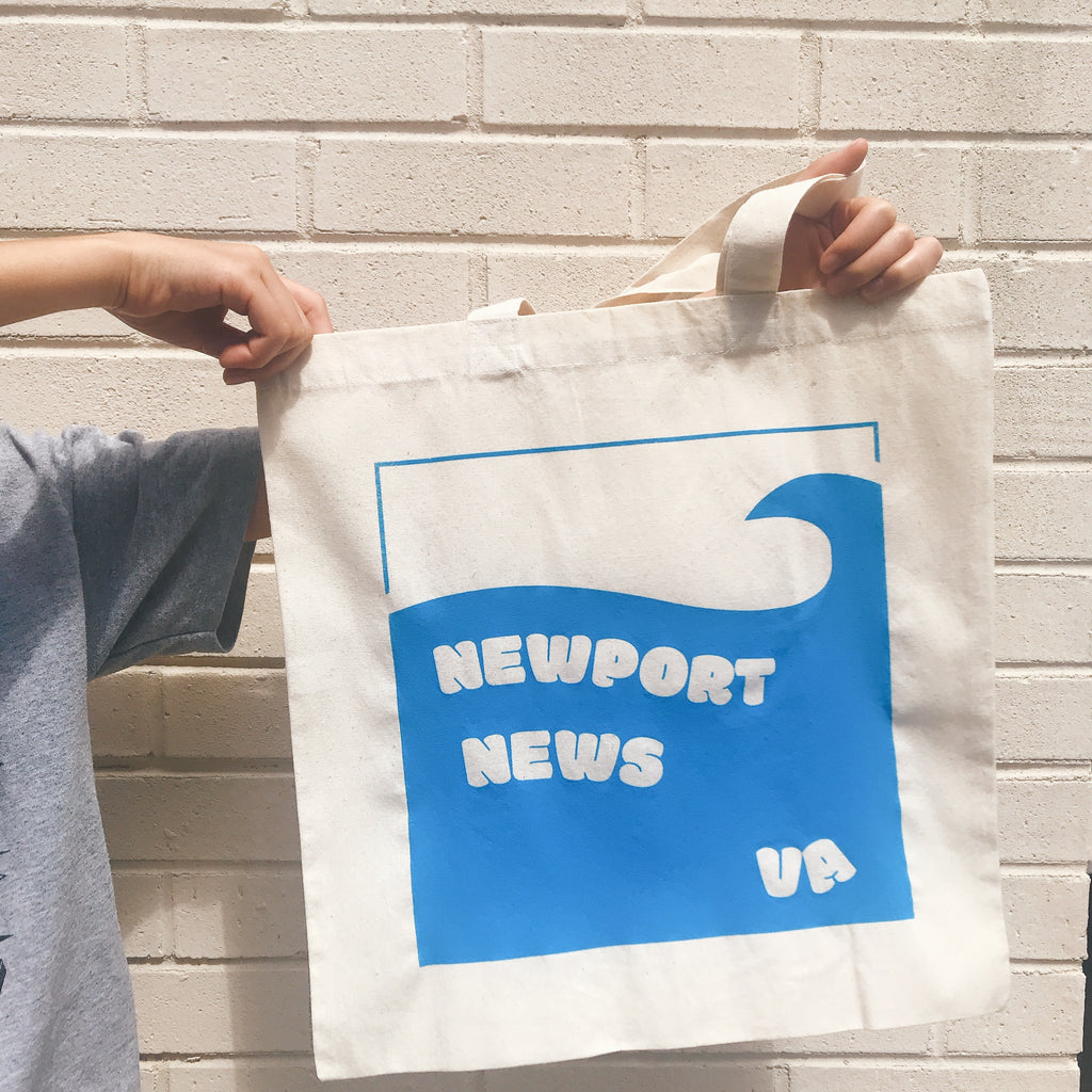 Newport News Totebag light blue