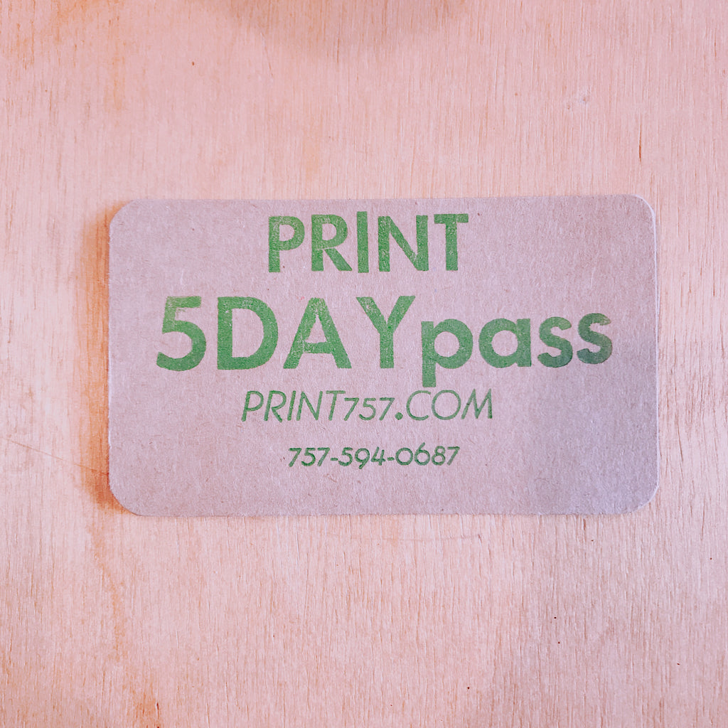 5Day pass studio daily use