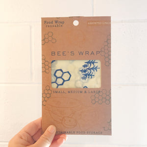 Bees Wrap Set of 3 Bees+Bears (S,M,L)