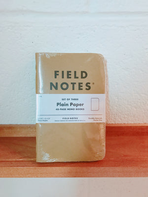Fieldnote Plain 3-Packs