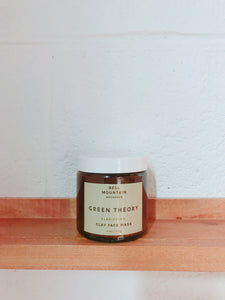 Bell mountain Green theory clay face mask