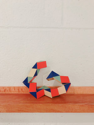 AREAWARE  Snake Block Red x Blue Small