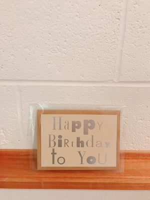 SD-03 Seven days Card Happy Birthday to you