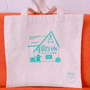 Hilton Tote Bag Green 13x13