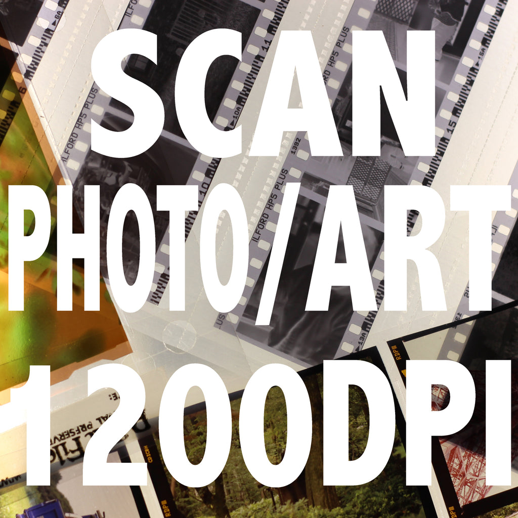 Prints and Artworks Scanning per image 1200DPI
