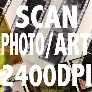 Prints and Artworks Scanning per image 2400DPI