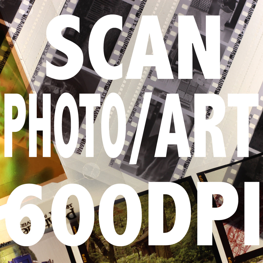 Prints and Artworks Scanning per image 600DPI