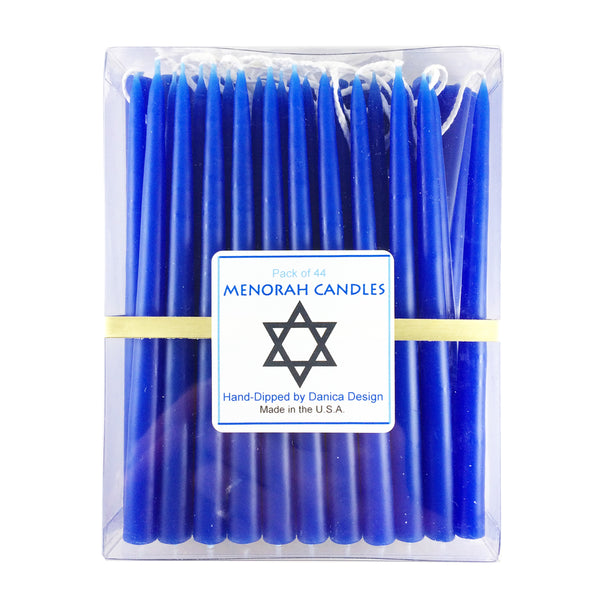 Hannukah Menorah Candles Blue