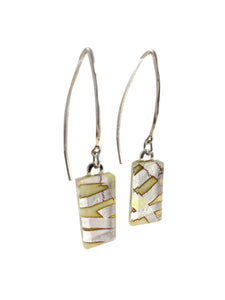 Cream Large Angle Earrings
