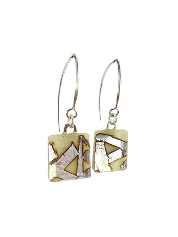 Cream Small Angle Earrings