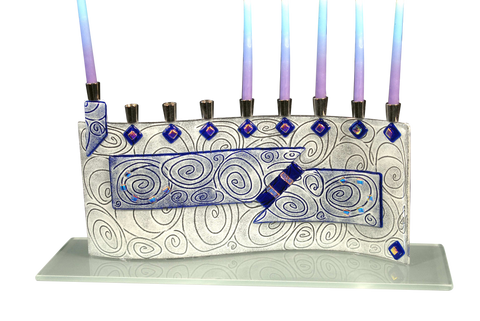 Hanukkah Menorah Vortex Blue