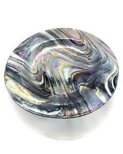 Fused, Slumped & Footed Glass Dish