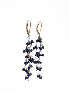 Blue Lapis Sterling Silver & Dangle Earrings