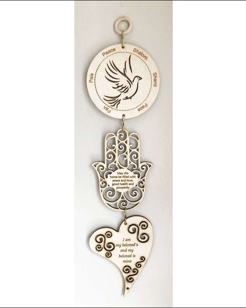 Dove of Peace, Hamsa Home Blessing, Heart Beloved