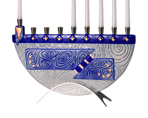 Menorah Nova Blue