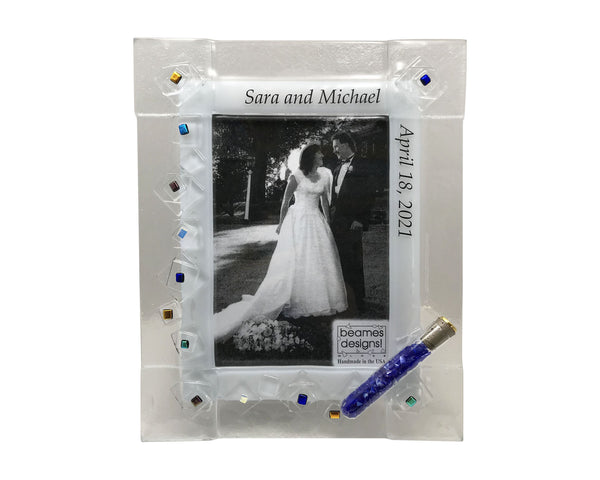 Jewish Wedding Keepsake Frame for the shards from the break glass - Personalized