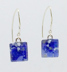 Stone Blue Small Angle Earrings