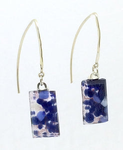 Stone Blue Large Angle Earrings