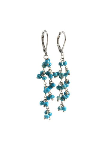 Turquoise & Sterling Silver Dangle Earrings