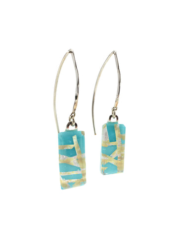 Turquoise Large Angle Earrings
