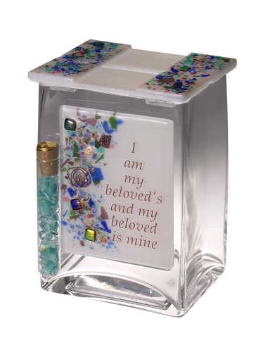 Beloved Pushke Tzedakah Box with tube for Wedding break glass