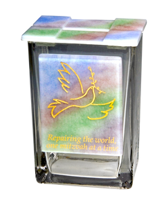 Tzedakah Box Rainbow Dove