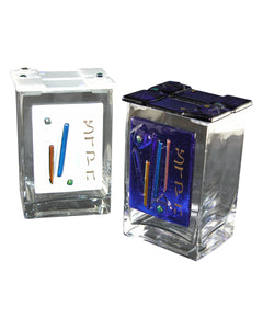 Pushke Tzedakah Box Glass Streamers