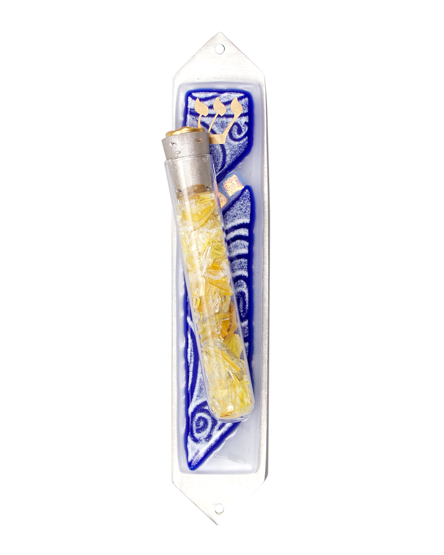 Vortex Blue Wedding Mezuzah