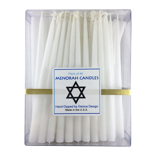 Hannukah Menorah Candles White