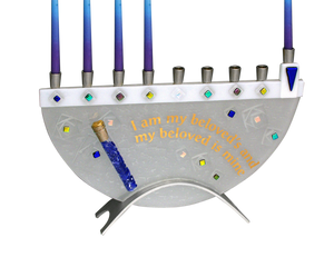 Beloved Chanukah Menorah with tube for wedding break glass