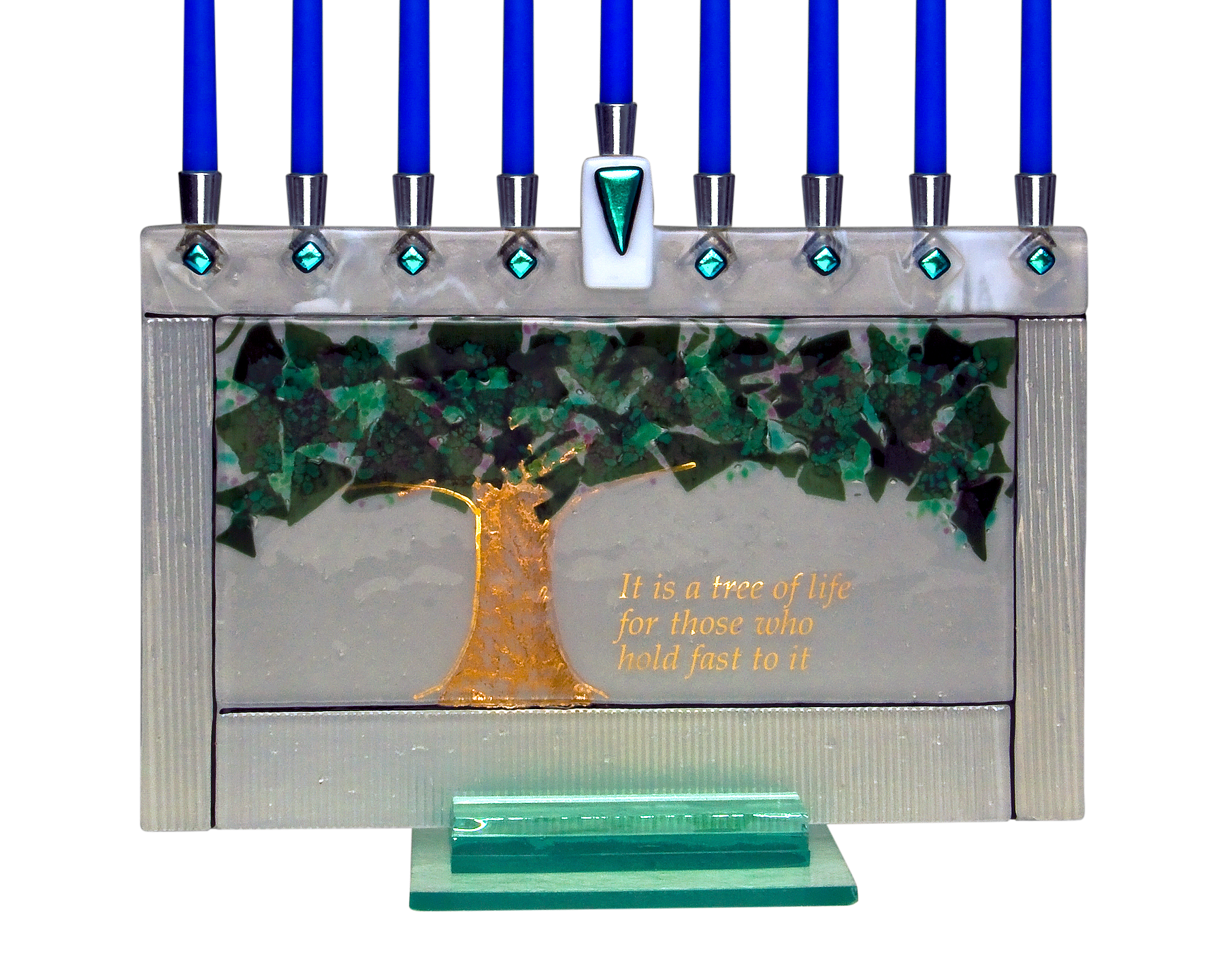 Hanukkah Menorah Tree of Life