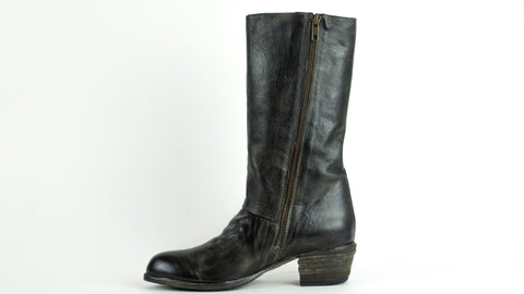 Shoto-51481-Boot-oliv-black-zip-handmade-in-Italy