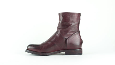 11662-Pantanetti-Stiefelette-flach-bordeaux-rot-handgemacht