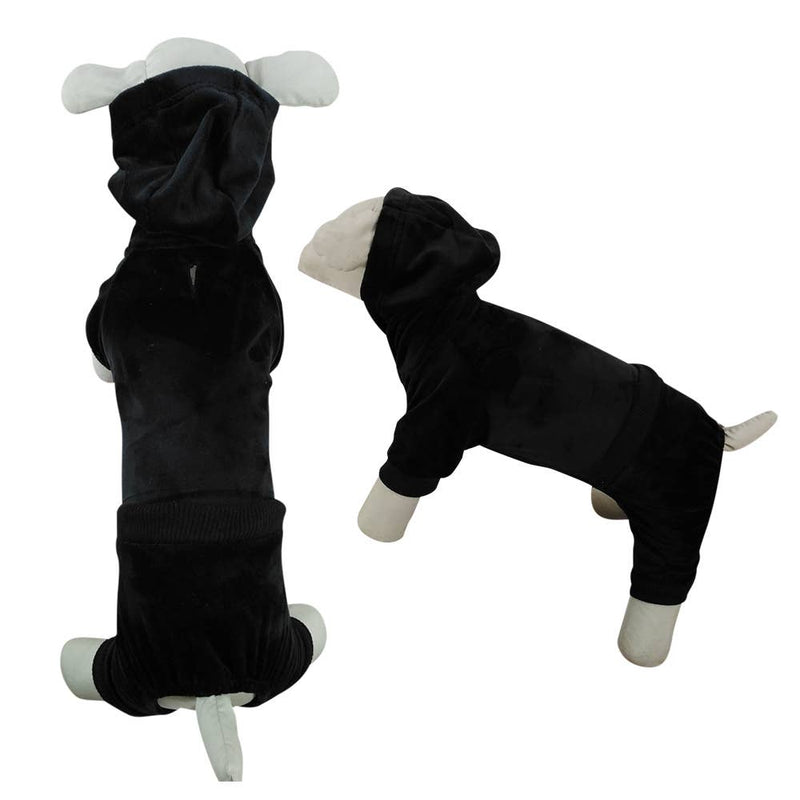 Black Velvet Dog Tracksuit